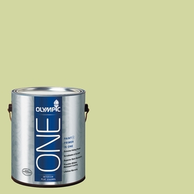 Olympic ONE Lettuce AlONE Flat Latex Interior Paint and Primer In One (Actual Net Contents: 124-fl oz)