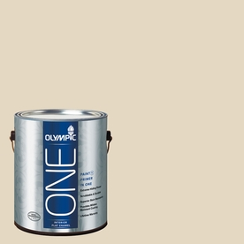 Olympic ONE Almond Paste Flat Latex Interior Paint and Primer In One (Actual Net Contents: 124-fl oz)