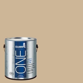 Olympic ONE Spiced Vinegar Flat Latex Interior Paint and Primer In One (Actual Net Contents: 124-fl oz)