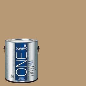 Olympic ONE Earthy Ocher Flat Latex Interior Paint and Primer In One (Actual Net Contents: 116-fl oz)