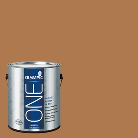 Olympic ONE Cowboy Hat Flat Latex Interior Paint and Primer In One (Actual Net Contents: 114-fl oz)