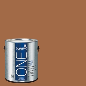 Olympic ONE Ginger Spice Flat Latex Interior Paint and Primer In One (Actual Net Contents: 114-fl oz)
