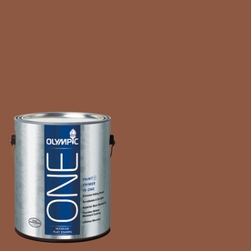 Olympic ONE Spiced Cider Flat Latex Interior Paint and Primer In One (Actual Net Contents: 114-fl oz)