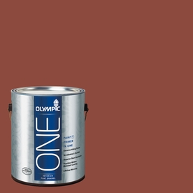 Olympic ONE Cedar Chest Flat Latex Interior Paint and Primer In One (Actual Net Contents: 114-fl oz)