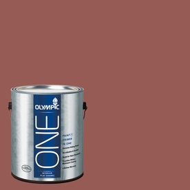 Olympic ONE Fire Weed Flat Latex Interior Paint and Primer In One (Actual Net Contents: 114-fl oz)