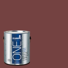 Olympic ONE Bordeaux Flat Latex Interior Paint and Primer In One (Actual Net Contents: 114-fl oz)