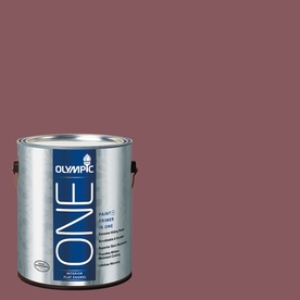 Olympic ONE Old Burgundy Flat Latex Interior Paint and Primer In One (Actual Net Contents: 114-fl oz)