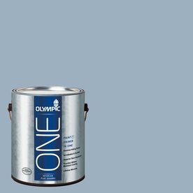Olympic ONE Sterling Silver Flat Latex Interior Paint and Primer In One (Actual Net Contents: 124-fl oz)