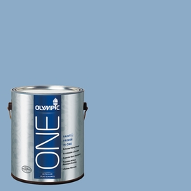 Olympic ONE Angle Eyes Flat Latex Interior Paint and Primer In One (Actual Net Contents: 124-fl oz)