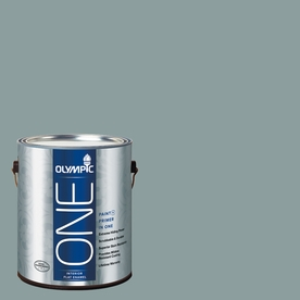 Olympic ONE Aqua Smoke Flat Latex Interior Paint and Primer In One (Actual Net Contents: 116-fl oz)