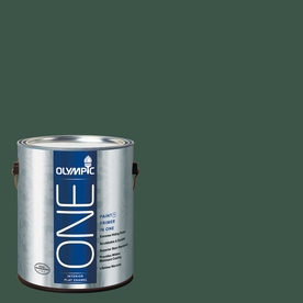 Olympic ONE Black Spruce Flat Latex Interior Paint and Primer In One (Actual Net Contents: 114-fl oz)