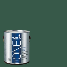 Olympic ONE Billiard Green Flat Latex Interior Paint and Primer In One (Actual Net Contents: 114-fl oz)