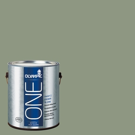 Olympic ONE Pacific Pine Flat Latex Interior Paint and Primer In One (Actual Net Contents: 116-fl oz)