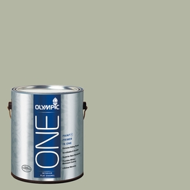 Olympic ONE Light Sage Flat Latex Interior Paint and Primer In One (Actual Net Contents: 124-fl oz)