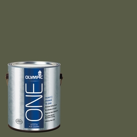 Olympic ONE Grape Leaves Flat Latex Interior Paint and Primer In One (Actual Net Contents: 114-fl oz)