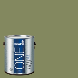 Olympic ONE Moss Point Green Flat Latex Interior Paint and Primer In One (Actual Net Contents: 114-fl oz)