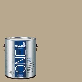 Olympic ONE Prairie Dust Flat Latex Interior Paint and Primer In One (Actual Net Contents: 116-fl oz)