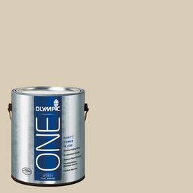 Olympic ONE Toasted Almond Flat Latex Interior Paint and Primer In One (Actual Net Contents: 124-fl oz)
