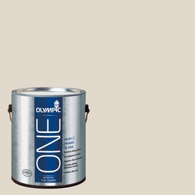 Olympic ONE Gravel Flat Latex Interior Paint and Primer In One (Actual Net Contents: 124-fl oz)