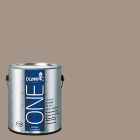 Olympic ONE Earl Gray Flat Latex Interior Paint and Primer In One (Actual Net Contents: 116-fl oz)