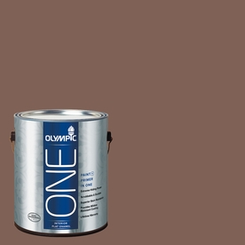 Olympic ONE Belgian Chocolate Flat Latex Interior Paint and Primer In One (Actual Net Contents: 114-fl oz)