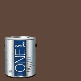 Olympic ONE Fudge Flat Latex Interior Paint and Primer In One (Actual Net Contents: 114-fl oz)