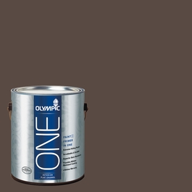 Olympic ONE Sarsaparilla Flat Latex Interior Paint and Primer In One (Actual Net Contents: 114-fl oz)