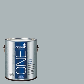 Olympic ONE Smoke Screen Flat Latex Interior Paint and Primer In One (Actual Net Contents: 124-fl oz)