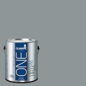 Olympic Gallon Interior Flat Enamel Gray Paint and Primer in One