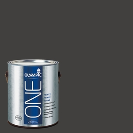 Olympic ONE Black Magic Flat Latex Interior Paint and Primer In One (Actual Net Contents: 114-fl oz)
