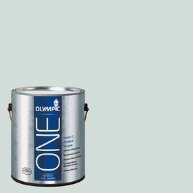 Olympic ONE Morning Fog Flat Latex Interior Paint and Primer In One (Actual Net Contents: 124-fl oz)