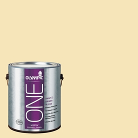 Olympic ONE Shortbread Eggshell Latex Interior Paint and Primer In One (Actual Net Contents: 124-fl oz)