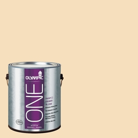 Olympic ONE Winter Wheat Eggshell Latex Interior Paint and Primer In One (Actual Net Contents: 124-fl oz)