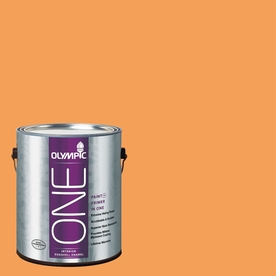 Olympic ONE Mandarin Eggshell Latex Interior Paint and Primer In One (Actual Net Contents: 114-fl oz)