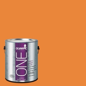 Olympic ONE Pumpkin Pleasure Eggshell Latex Interior Paint and Primer In One (Actual Net Contents: 114-fl oz)