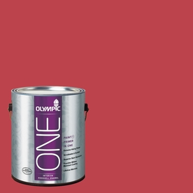 Olympic ONE Calypso Berry Eggshell Latex Interior Paint and Primer In One (Actual Net Contents: 114-fl oz)