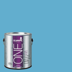 Olympic ONE Salem Blue Eggshell Latex Interior Paint and Primer In One (Actual Net Contents: 116-fl oz)