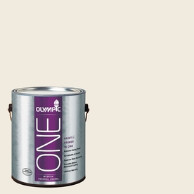 Olympic ONE Candlelit Beige Eggshell Latex Interior Paint and Primer In One (Actual Net Contents: 124-fl oz)