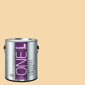 Olympic ONE Dusty Yellow Eggshell Latex Interior Paint and Primer In One (Actual Net Contents: 124-fl oz)