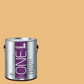 Olympic ONE Gold Buff Eggshell Latex Interior Paint and Primer In One (Actual Net Contents: 116-fl oz)