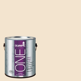 Olympic ONE Golden Mushroom Eggshell Latex Interior Paint and Primer In One (Actual Net Contents: 124-fl oz)