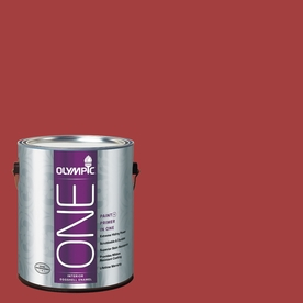 Olympic ONE Red Gumball Eggshell Latex Interior Paint and Primer In One (Actual Net Contents: 114-fl oz)