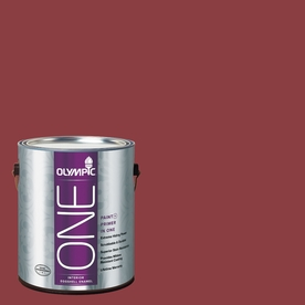 Olympic ONE Gallon Interior Eggshell Apple-A-Day Paint and Primer In One B35-6-APPLE-A-356808