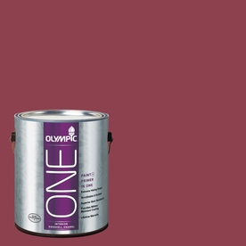 Olympic ONE Madeira Red Eggshell Latex Interior Paint and Primer In One (Actual Net Contents: 114-fl oz)