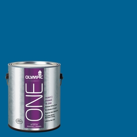 Olympic ONE Suddenly Sapphire Eggshell Latex Interior Paint and Primer In One (Actual Net Contents: 114-fl oz)