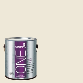 Olympic ONE Ivory Tower Eggshell Latex Interior Paint and Primer In One (Actual Net Contents: 124-fl oz)