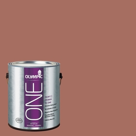 Olympic ONE Amaretto Eggshell Latex Interior Paint and Primer In One (Actual Net Contents: 116-fl oz)