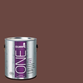 Olympic ONE Warm Mahogany Eggshell Latex Interior Paint and Primer In One (Actual Net Contents: 114-fl oz)