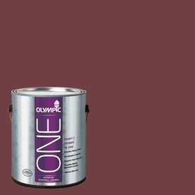 Olympic ONE Merlot Eggshell Latex Interior Paint and Primer In One (Actual Net Contents: 114-fl oz)