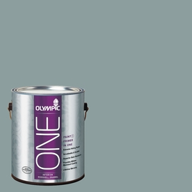 Olympic ONE Aqua Smoke Eggshell Latex Interior Paint and Primer In One (Actual Net Contents: 116-fl oz)